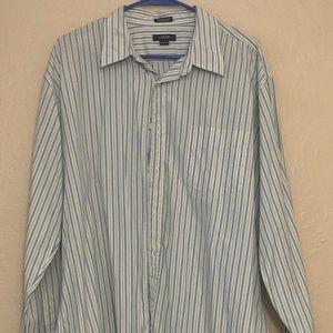 J. Crew Men's Dress Shirt L/S Striped Size XL